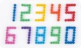 Strijkkralen Grondplaat Nummers Wit