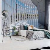 Fotobehang City 3D Modern Architecture View | V4 - 254cm x 184cm | 130gr/m2 Vlies