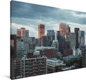 Winterse skyline van Montreal in Canada Canvas 120x80 cm - Foto print op Canvas schilderij (Wanddecoratie woonkamer / slaapkamer)