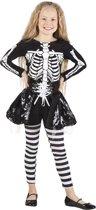 Skeleton girl kostuum voor kind