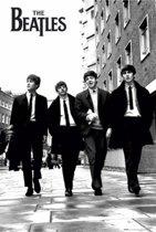 Poster The Beatles zwart/wit 61 x 91,5 cm