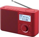 Sony XDR-S61D - DAB+ Radio - Rood