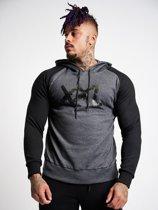 Sweater Hoodie - Bigger is Better - Graphite/Black - S