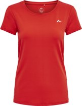 Python Curved Burnout Shirt Dames Sporttop