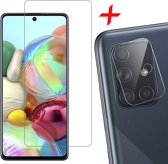 Samsung Galaxy A71 Screenprotector + Camera Protector Lens Bescherm Glas