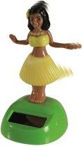Dansend Hula meisje solar  Fuchsia