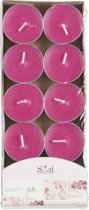 Geur theelichtjes rozen roze 10 stuks - waxinelichtjes / geurkaarsen