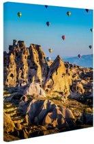 Heteluchtballons Turkije Canvas 20x30 cm - Foto print op Canvas schilderij (Wanddecoratie)