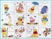 borduurpakket H16 winnie the pooh, twaalf maanden-2