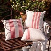 LOBERON Kussenhoes set van 3 Rosano beige/rood
