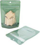 Stazakken Rijstpapier Donkergroen 10,2x6x15,2cm | 57 gram (100 stuks)