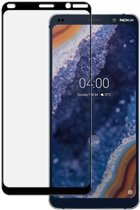 Full Screen 9H Tempered Glass Screen Protector voor Nokia 9 PureView - Transparant / Zwart Kader