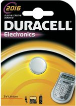 10x Duracell 2016 CR2016 DL2016 3v Lithium Batterij