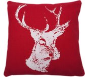 In The Mood - Winterhert - Kussen - 45X45 - Rood
