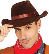 Bruine cowboyhoed voor volwassenen