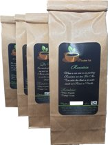 Witte thee pakket Pai Mu Tan |4x 50 gr| Rozen- Vanille| Peer -Kaneel| Kokos - Kersen| Guave - Papaya