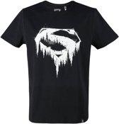 Superman-T-shirt-met-korte-mouw-zwart-maat-M