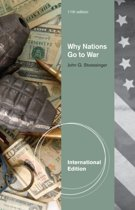 Why Nations Go to War, International Edition