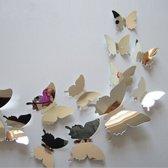 3D Spiegel Vlinders Muur stickers / Muurdecoratie Voor Kinderkamer / Babykamer