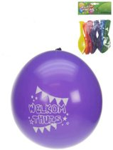 Ballonnen Welkom thuis 8 stuks