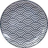Tokyo Design Studio Nippon Black Plate 16x2cm Wave