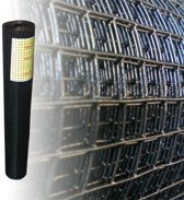 Volièregaas 12x12mm 1.05mm 100cm hoog 10m Rol Zwart