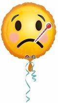 Helium ballon ziekte smiley 43 cm