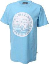 Color Kids Shirt - Maat 128  - Jongens - licht blauw/wit