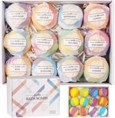 Bruisballenset Deluxe - 100% Natuurlijke Bruisballen voor in bad - Badbruisballen  - Badbommen - Aromatherapie - Bath Bombs Giftset - Ideaal als cadeau