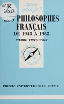 Les Philosophes français d'aujourd'hui