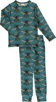 Maxomorra Pyjama Set LS BEE 134/140