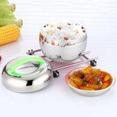 0.8 L kleurrijke handvat draagbare praktische RVS dubbellaagse Apple vorm geïsoleerd Lunch Boxes