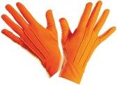 Oranje handschoenen kort