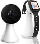 Orretti® V10 Babyfoon met Camera en Smart Watch  - Sterk Zendbereik - Terugspreekfunctie- Oplaaddock -Temperatuurbewaking - Slaapliedjes - Lange Afstand en hoge Batterij Capaciteit