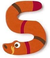Scratch Letter S Slang Oranje 5.5 Cm