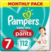 Pampers Baby-Dry Nappy Pants  Maat 7 - 112 Stuks - Maandbox - 17+ kg