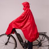 LOWLAND - Fietsponcho - One size - Rood