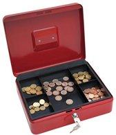 Wedo geldkoffer formaat 30 x 24 x 9 cm rood