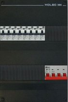 EMAT groepenkast 3 fase 8 aardlekautomaten en afmetingen 330x220 mm