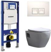 Geberit Up 100 Toiletset – Inbouw WC Hangtoilet Wandcloset - Daley Flatline Geberit Delta 50 Wit