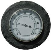 Leisteen thermometer rond