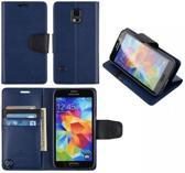 Goospery Sonata Leather case hoesje Samsung Galaxy S5 Mini Blauw
