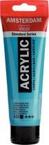 Amsterdam Standard acrylverf tube 120ml - Turkooisblauw - dekkend