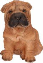 Shar Pei beeldje voor binnen en buiten - honden beeldje