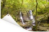 Watervallen diep in de bossen van het Nationaal park Brecon Beacons Tuinposter 120x80 cm - Tuindoek / Buitencanvas / Schilderijen voor buiten (tuin decoratie)