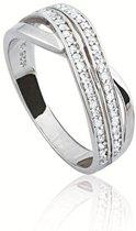 Classics&More Zilveren Ring - Maat 52 - Zirkonia