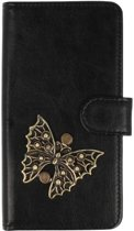 Sony Xperia XA1 Plus hoesje vlinder brons