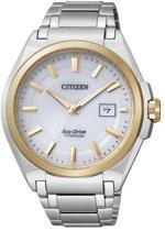 Citizen Super Titanium - Horloge - Titanium - 42 mm - Bicolor / Wit - Solar uurwerk