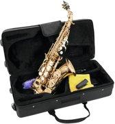 DIMAVERY Soprano Saxofoon - Goud - SP-20 - Inclusief koffer en accessoires