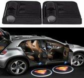 Set van 2x Auto logo LED LIGHT deur projectors I Inclusief Batterijen I Superman